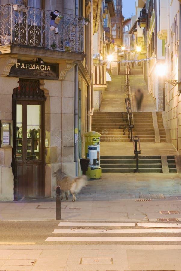 stads straat Plentzia royalty-vrije stock afbeelding