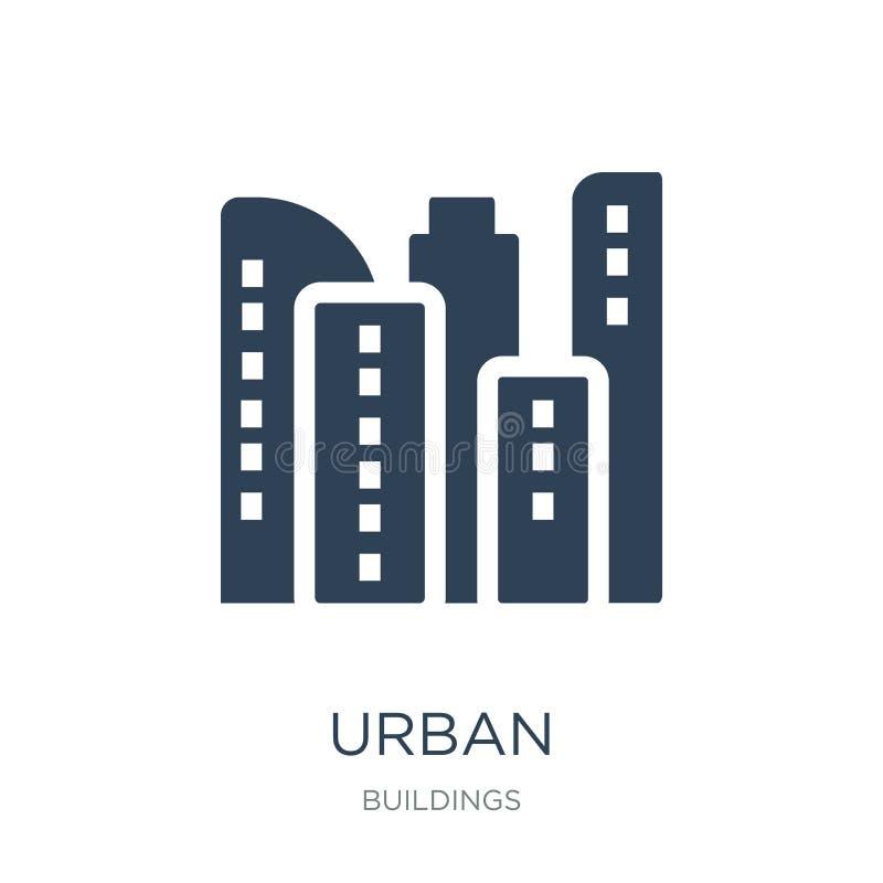 stads- symbol i moderiktig designstil stads- symbol som isoleras på vit bakgrund enkelt och modernt plant symbol för stads- vekto vektor illustrationer