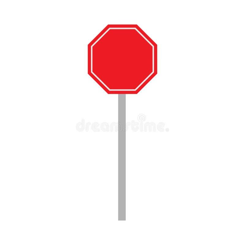 Stads- tecken för rött vägtrans. Plan vektorhuvudvägskylt stock illustrationer