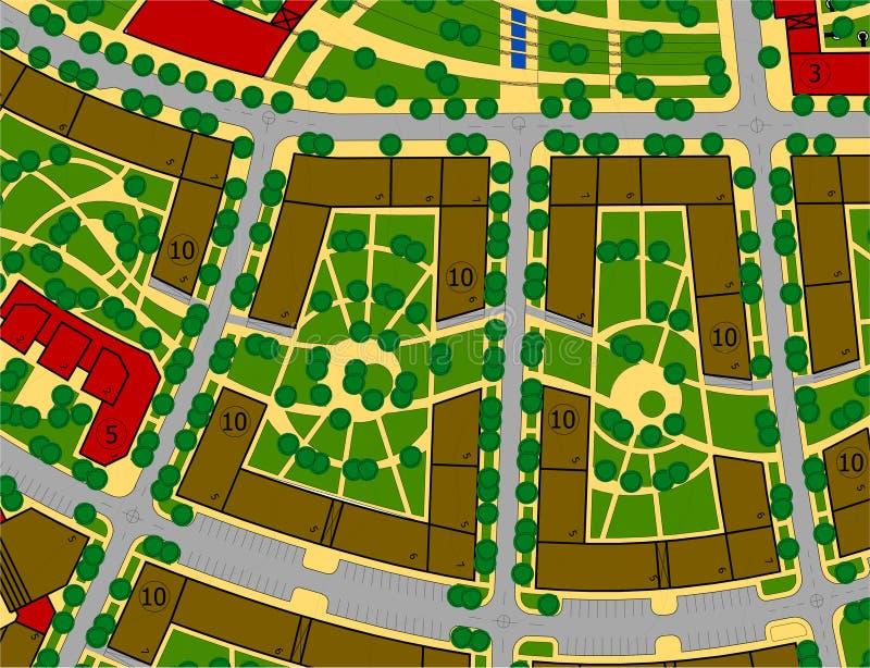 stads- teckningsplan stock illustrationer