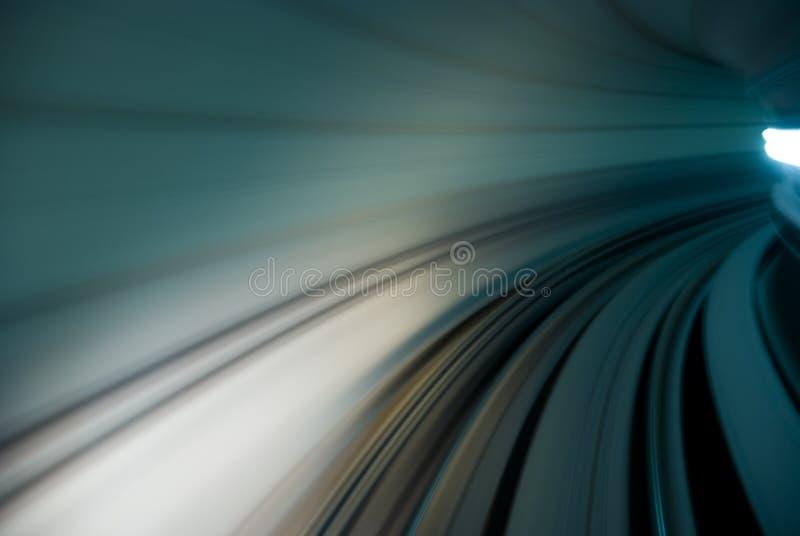 Stads- trafik av tunnelrörelse arkivbilder