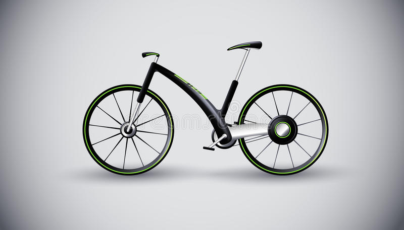 stads- trans. för cykelbegreppsprodukt royaltyfri illustrationer