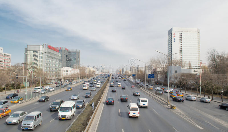 Stads- transport i beijing royaltyfria foton