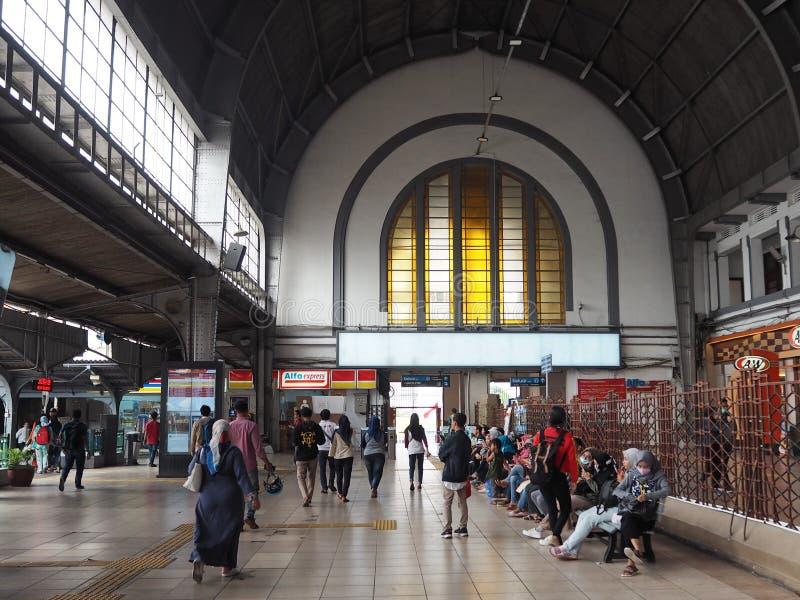 Stads- transport i Jakarta royaltyfria bilder