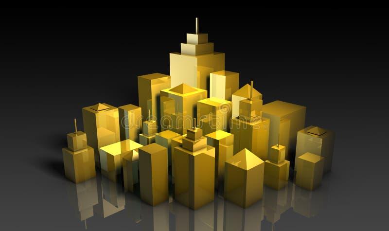 stads- utveckling vektor illustrationer