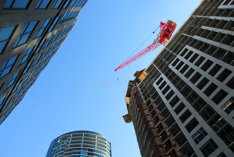 stads- utveckling arkivfoto
