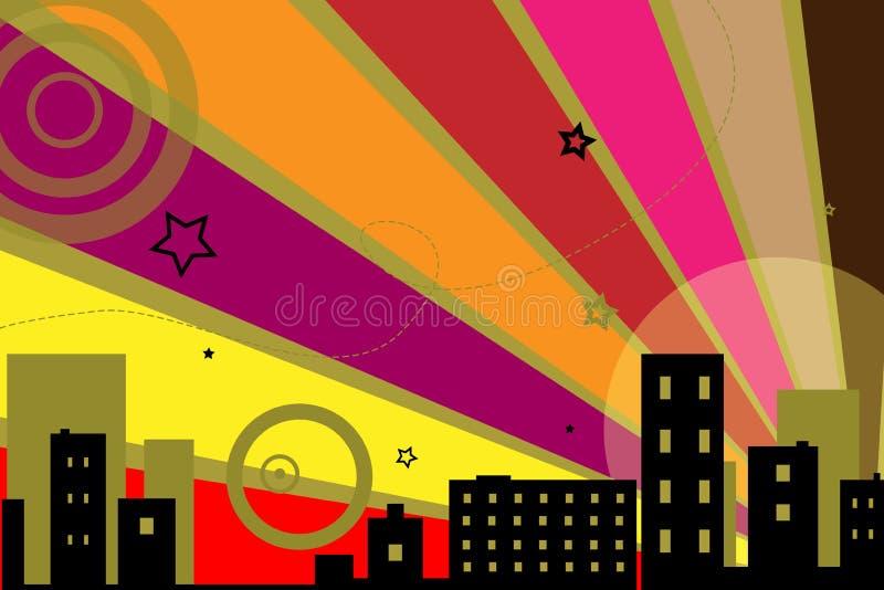 stads- vektor för bakgrundsdesign royaltyfri illustrationer