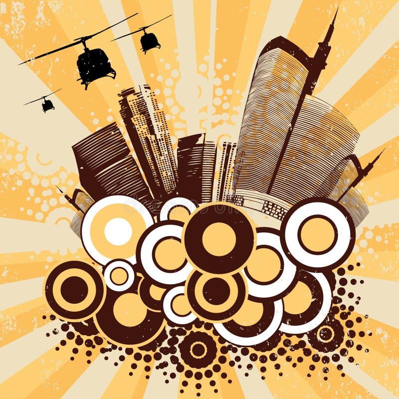 stads- vektor för konst royaltyfri illustrationer