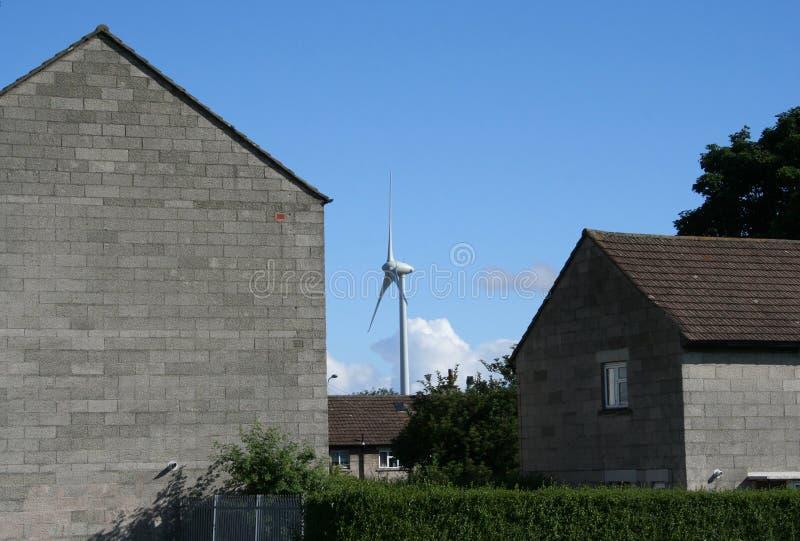 stads- wind för lantgård royaltyfri foto