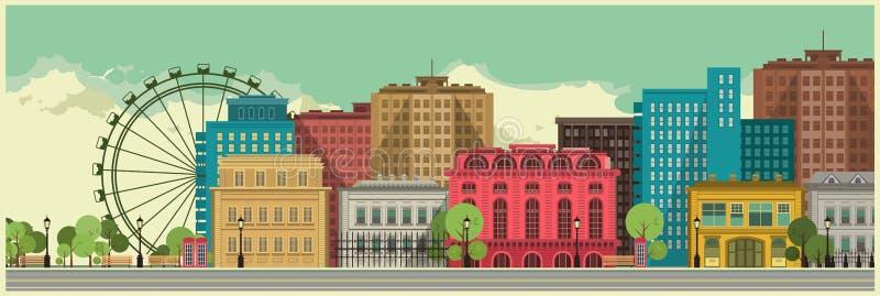 Stadsachtergrond stock illustratie