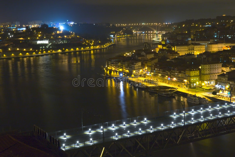 stadsaftonflod royaltyfri bild