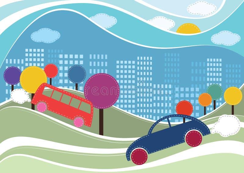 Stadsbakgrund  vektor illustrationer