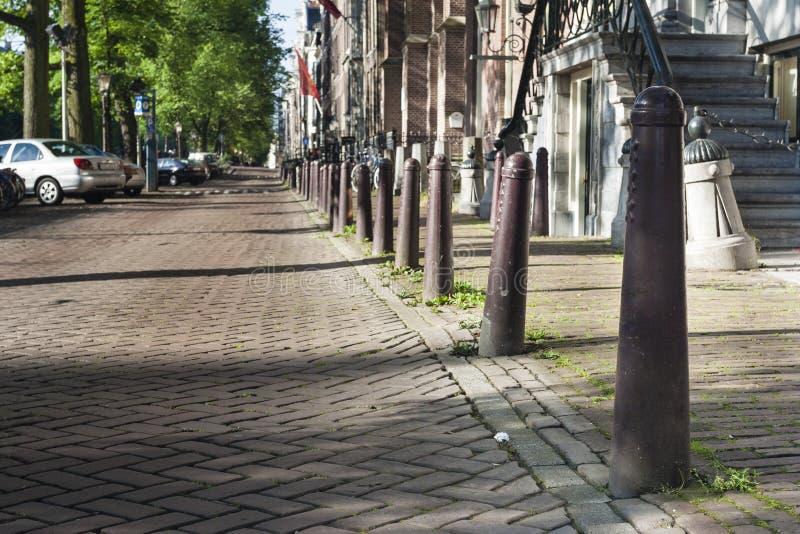 Stadsbeeld samochód dostawczy Amsterdam, pejzaż miejski Amsterdam obraz stock