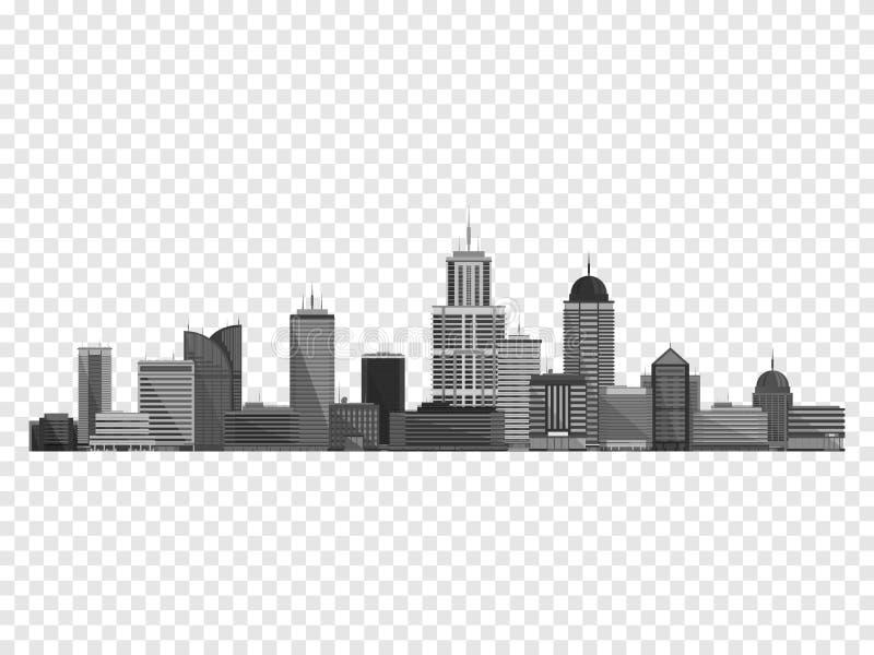 Stadsbegrepp som isoleras på rutig backgound också vektor för coreldrawillustration vektor illustrationer