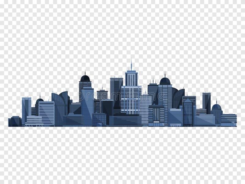 Stadsbegrepp som isoleras på rutig backgound också vektor för coreldrawillustration stock illustrationer