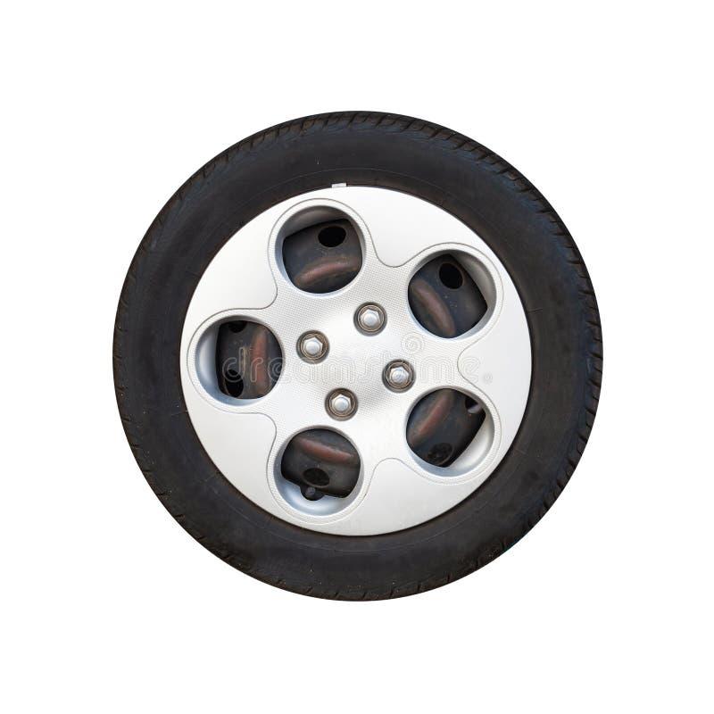 Stadsbilhjul, isolerad diskett för ljus legering royaltyfri fotografi