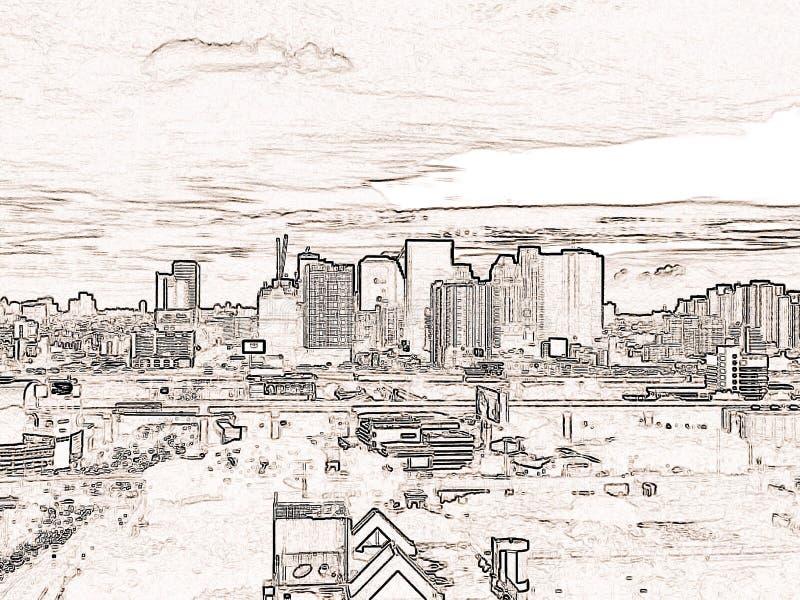 Stadsblack&White arkivbild
