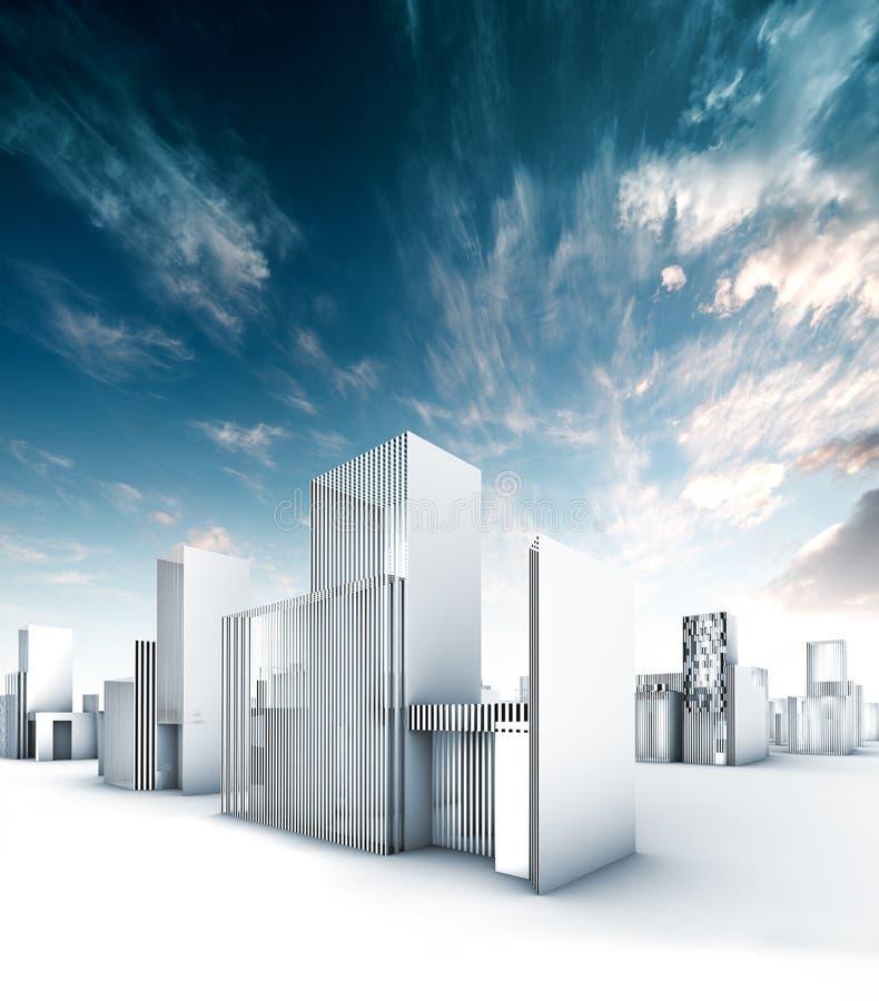 Stadsblauwdruk vector illustratie