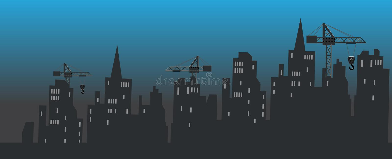Stadsbouw stock illustratie