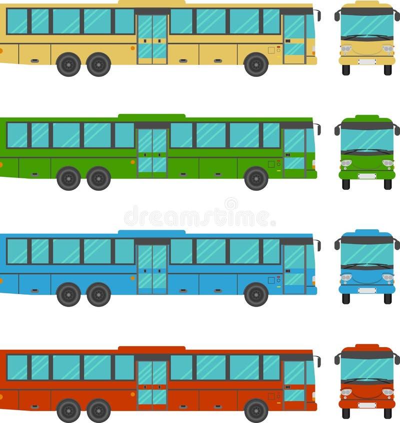 Stadsbuss vektor illustrationer