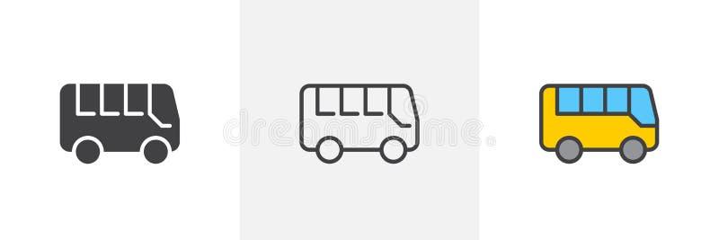 stadsbusssymbol vektor illustrationer