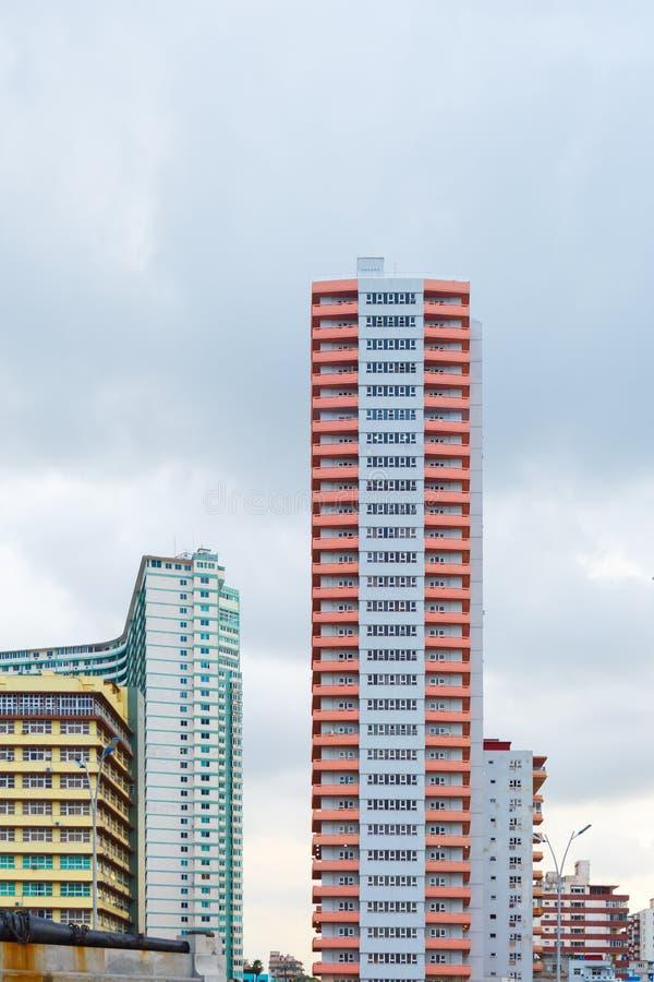 Stadsbyggnader i Havana Cuba royaltyfri fotografi