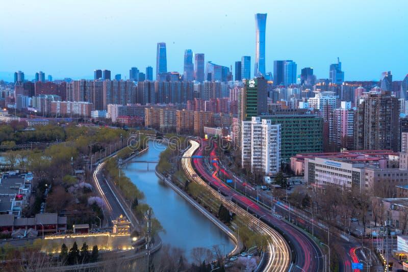 Stadsbyggnader Kina Zun royaltyfri fotografi