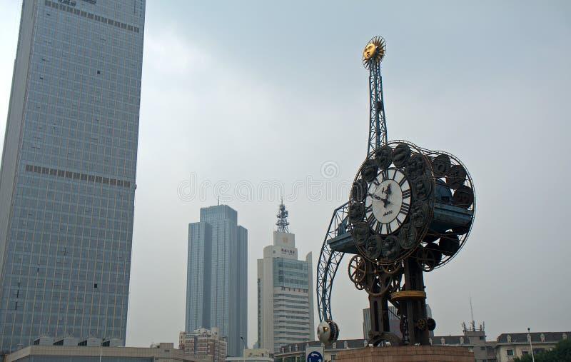 Stadscentrum, Tianjin, China royalty-vrije stock afbeelding