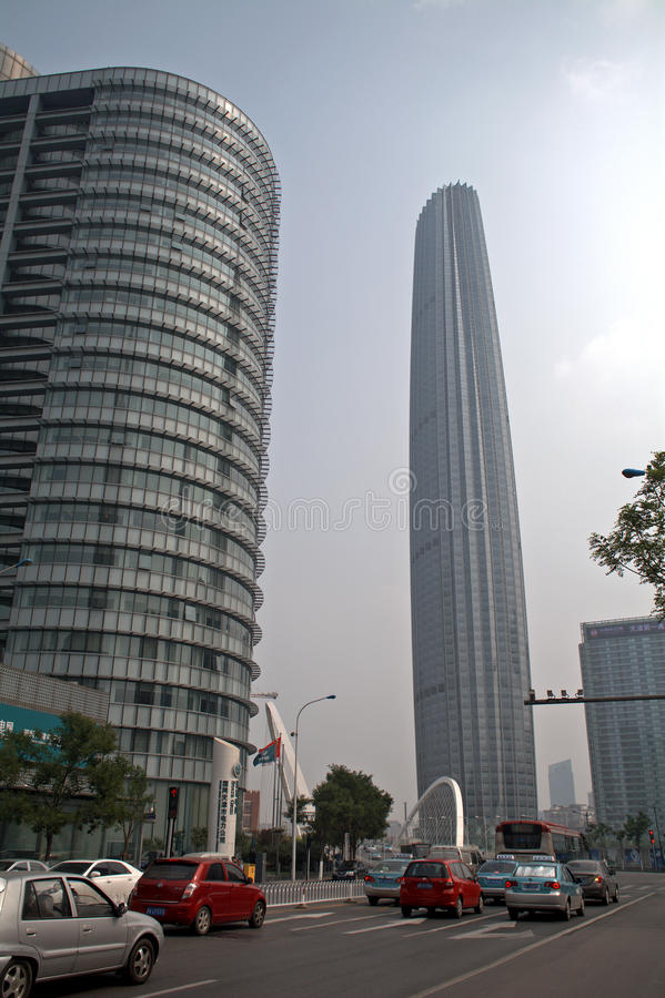 Stadscentrum, Tianjin, China stock foto's