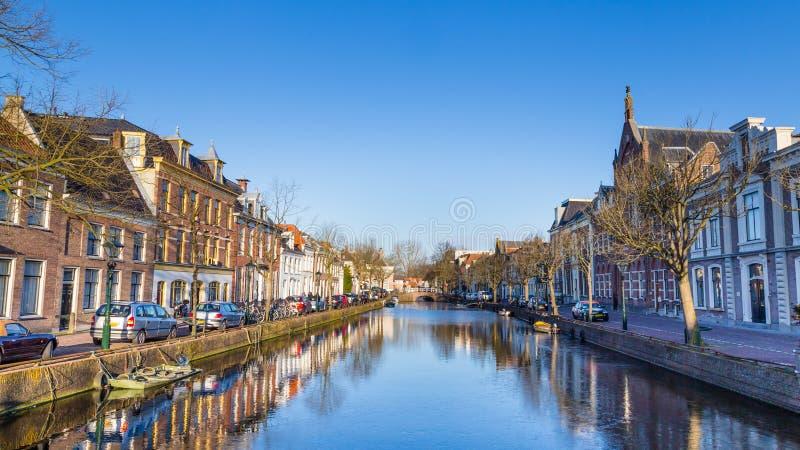 Stadscentrum van Alkmaar Nederland stock afbeelding