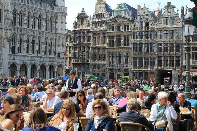 Stadscentrum van Brussel - Grand Place royalty-vrije stock fotografie