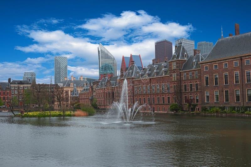Stadscentrum van Den Haag, Nederland, Europa stock foto's