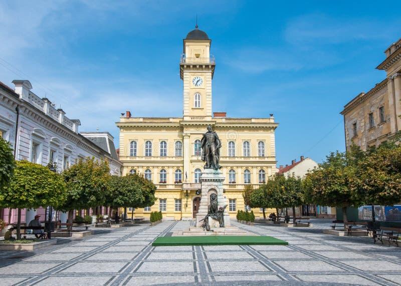 Stadscentrum van Komarno, Slowakije stock fotografie