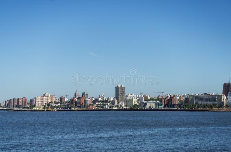 Stadscentrum van Montevideo stock foto