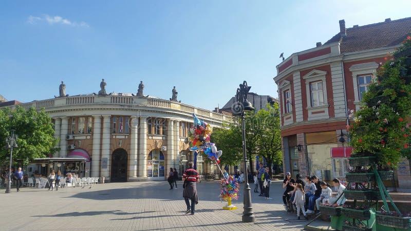 Stadscentrum van Smederevo-stad, Servi? royalty-vrije stock foto