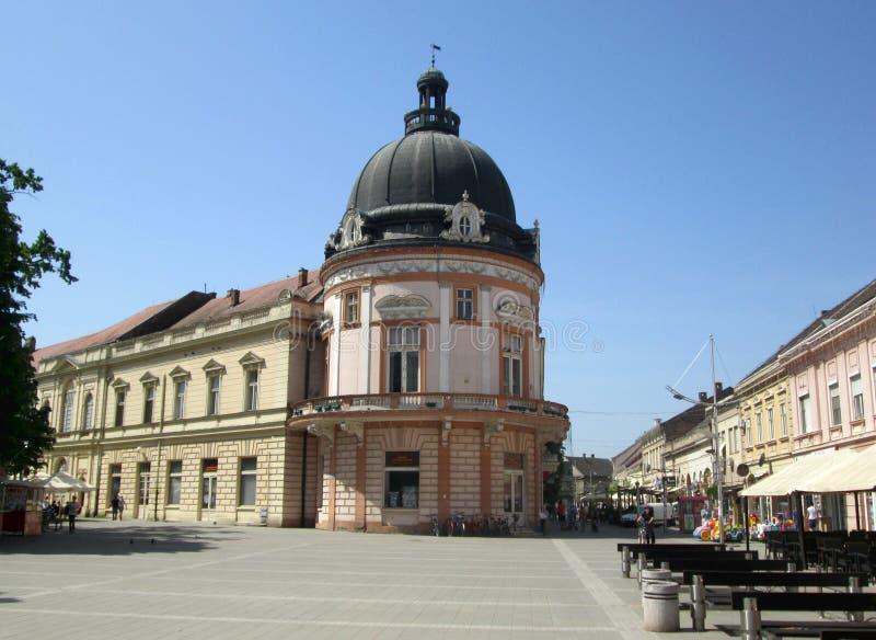 Stadscentrum van Sremska Mitrovica, Servië royalty-vrije stock foto