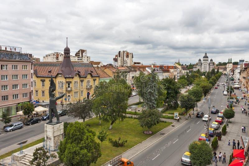 Stadscentrum van Targu Mures royalty-vrije stock afbeeldingen