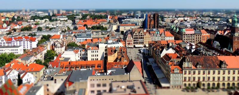 Stadscentrum van Wroclaw stock fotografie