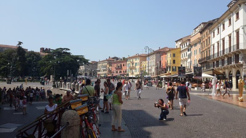 Stadscentrum, Verona stock fotografie