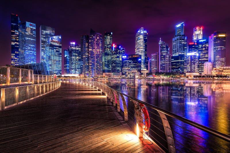 stadscityscapeflod singapore royaltyfri foto
