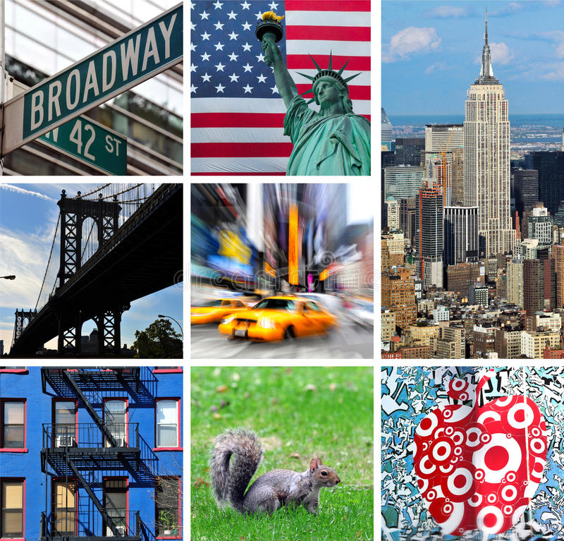 stadscollage New York royaltyfri bild