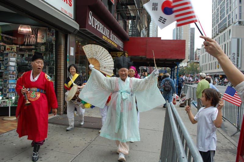 stadsdagkorean New York royaltyfria foton