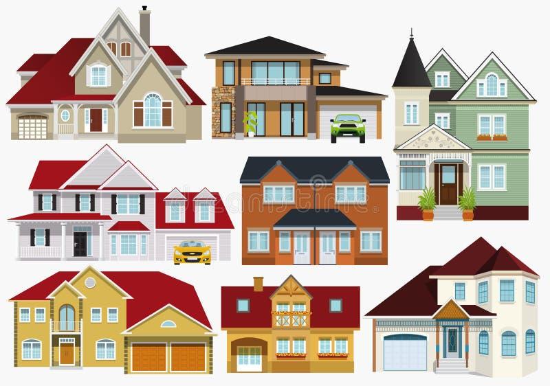 stadsdesignen houses illustrationen dig stock illustrationer