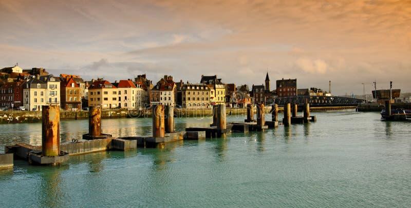 stadsdieppehamn normandy royaltyfri fotografi