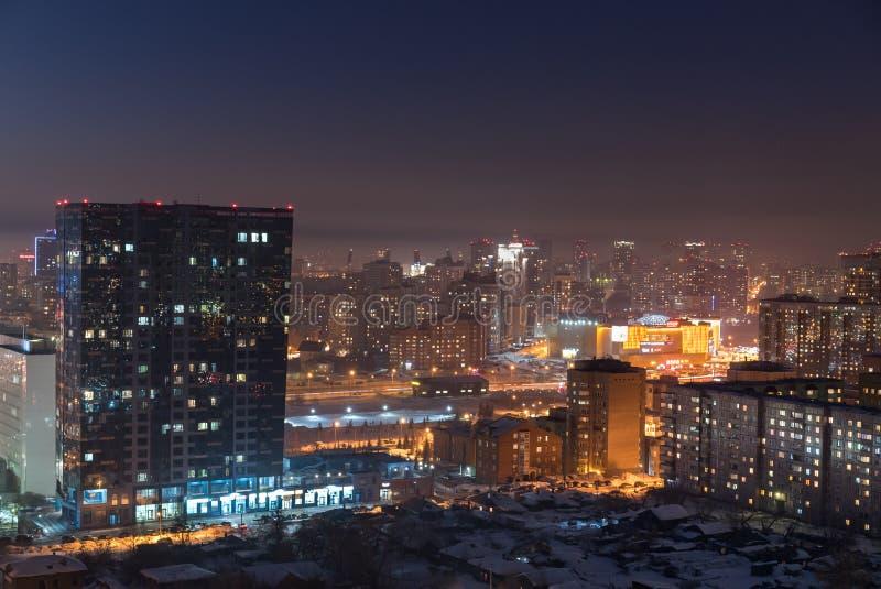 stadsdimma över fotografering för bildbyråer