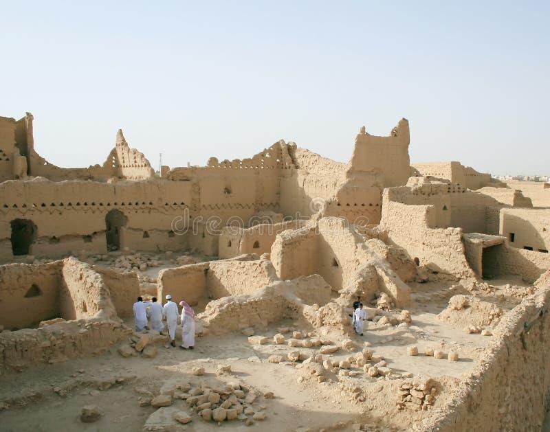 stadsdiriyah nära gammala riyadh arkivfoton