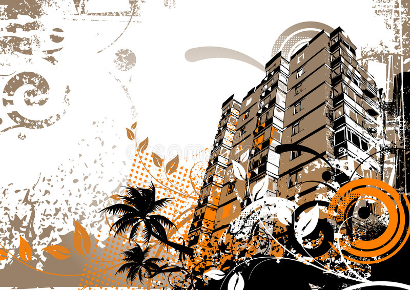 stadselementgrunge vektor illustrationer