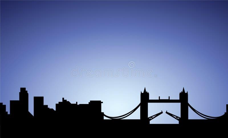 stadsengland london silhouette royaltyfri illustrationer