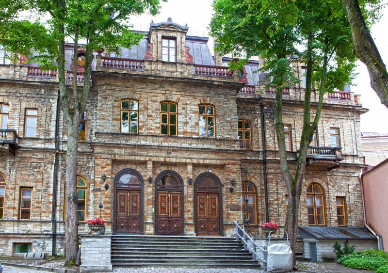 stadseston houses gammala gator tallinn tallinn estonia royaltyfri foto