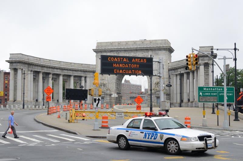 stadsevakuering obligatoriska New York arkivfoto